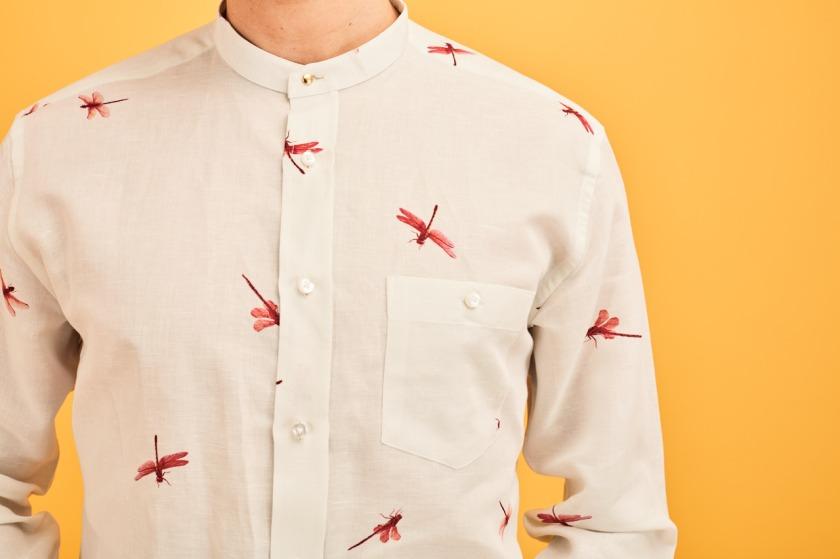 SS18 Linen Pink Dragonfly Shirt