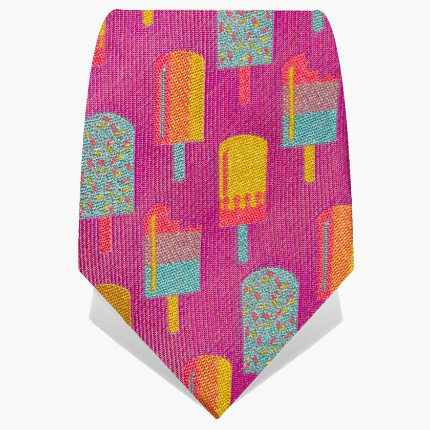 SS18 100% silk Pink Lolly Tie