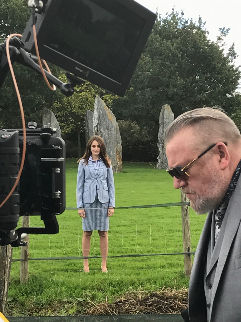 Ray Winstone on set filming for Gresham Blake