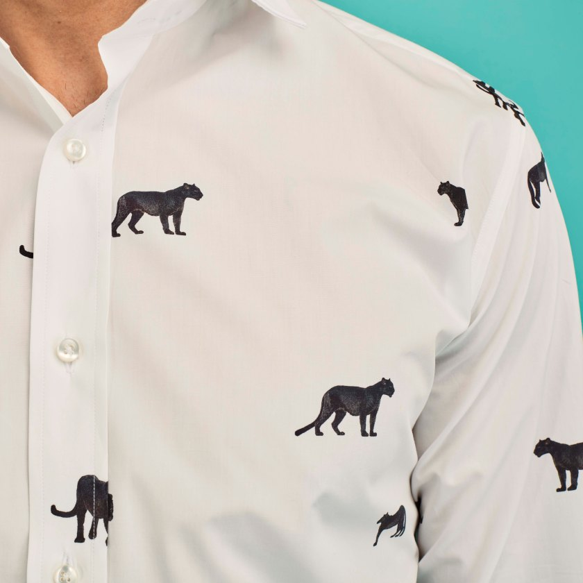 Black Panther Patterned Shirt | Gresham Blake