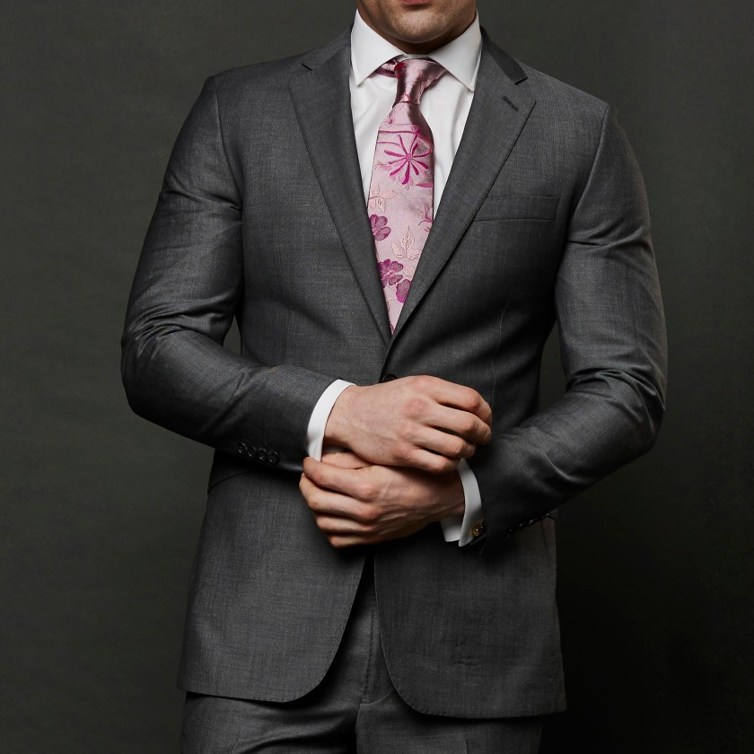 The Story of Mohair - Grey Mohair 2 Piece Suit by Gresham Blake