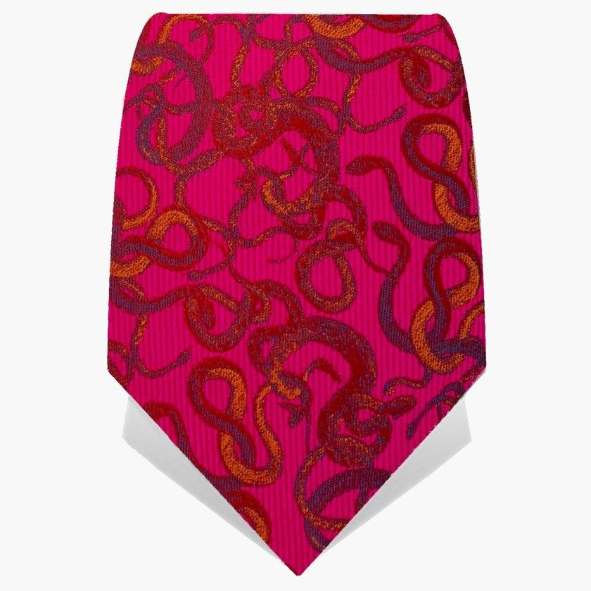 Fuchsia Knot Of Snakes Tie | Silk Tie | Gresham Blake