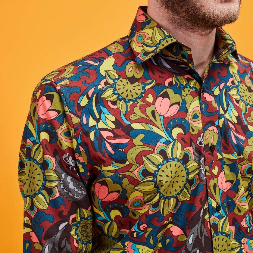 Psychedelic Crow Shirt | Floral Shirt | Gresham Blake