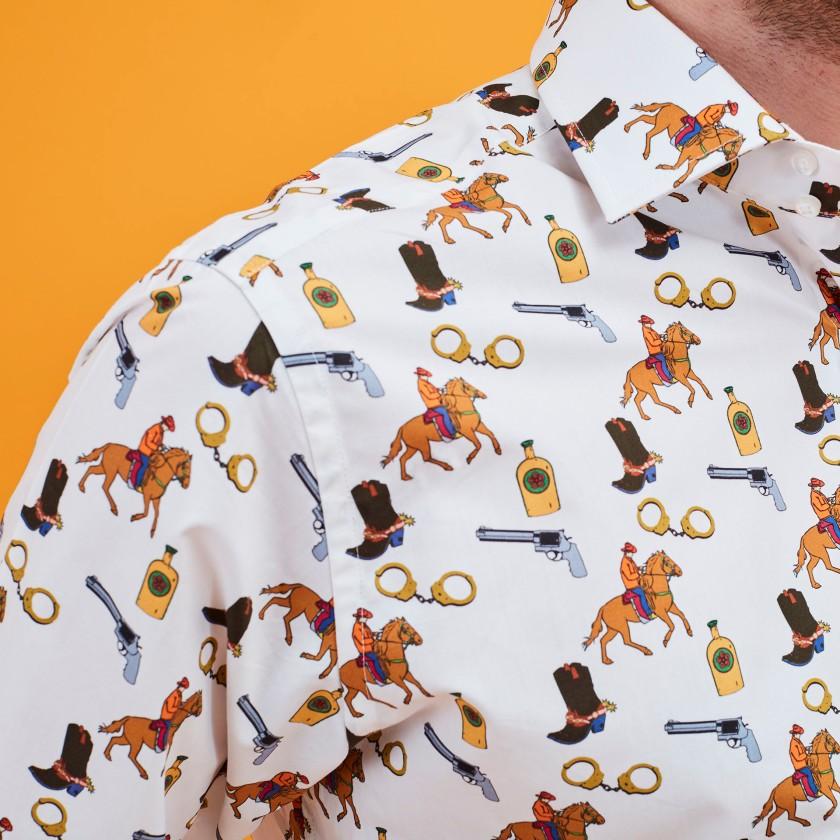 Cowboy Tattoo Shirt | Mens Shirts | Gresham Blake