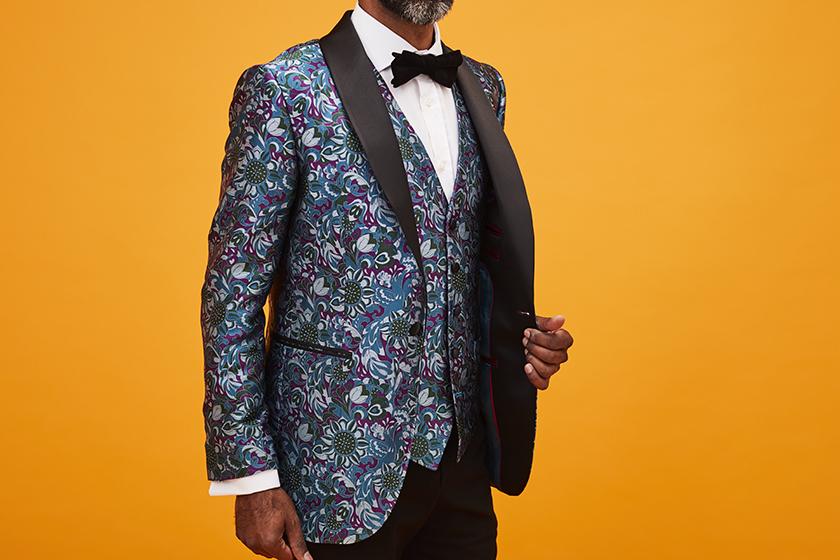 Silk Dinner Jacket | Floral Dinner Jacket | Gresham Blake