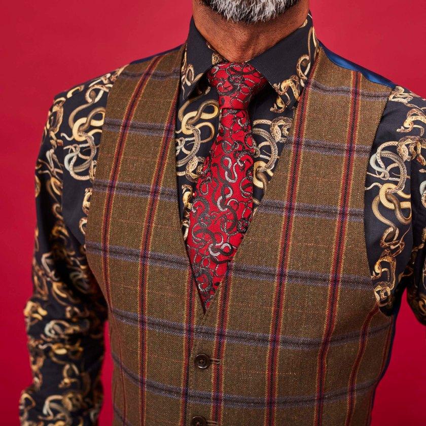 Red Snakes Tie | Silk Tie | Gresham Blake