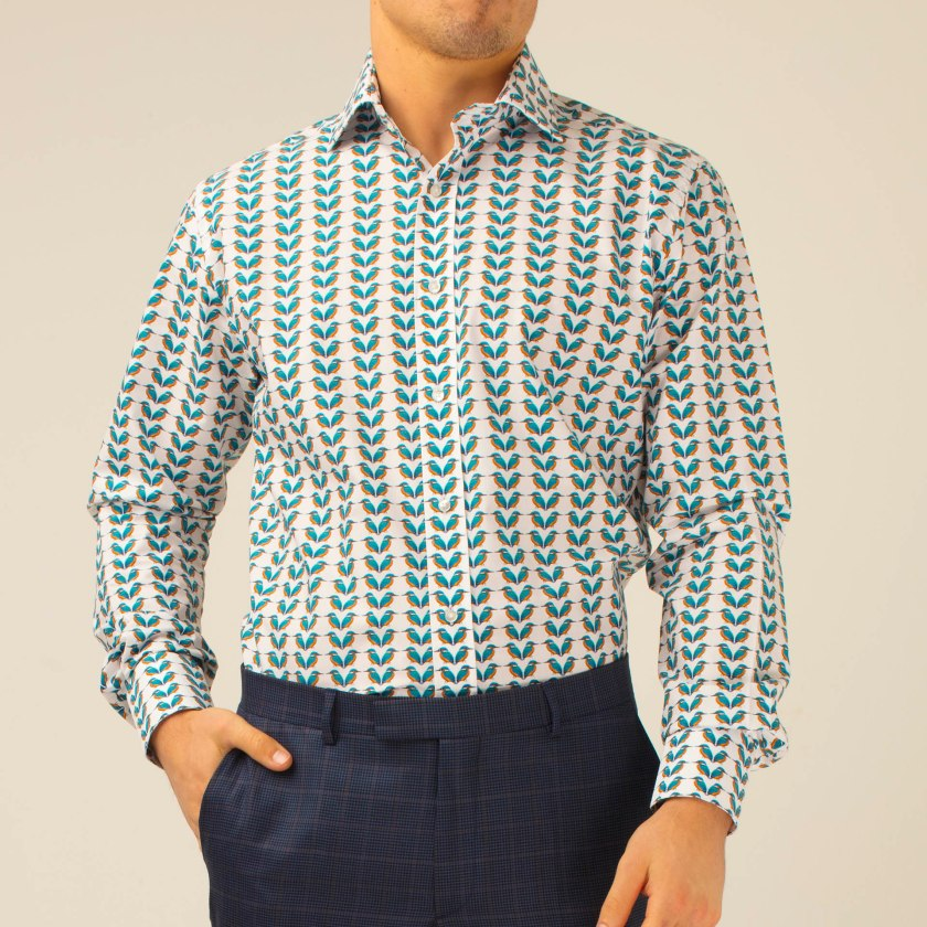 Kingfisher Shirt | Striped Shirt | Gresham Blake