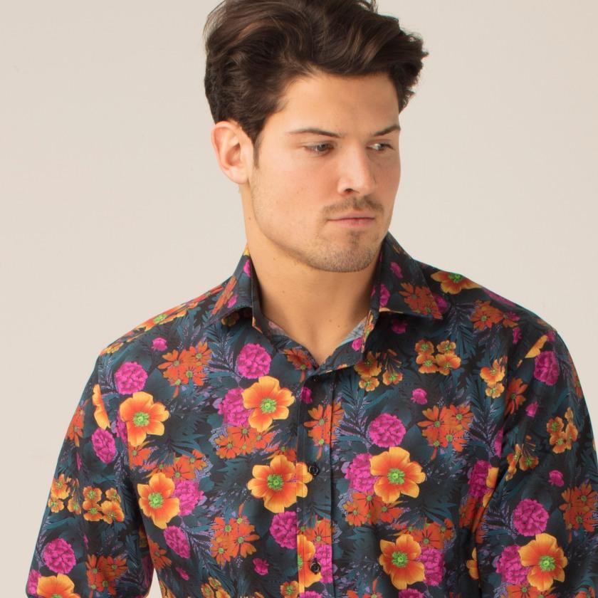 Leilas Florals at Night Shirt | Floral Shirt | Gresham Blake