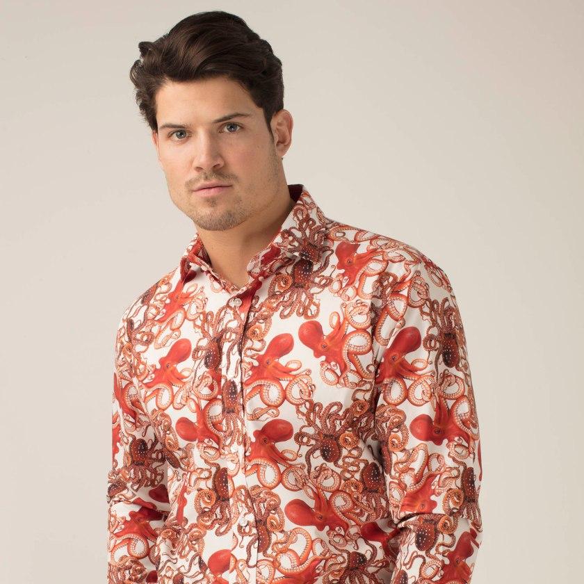 Octopus Shirt | Patterned Shirt | Gresham Blake