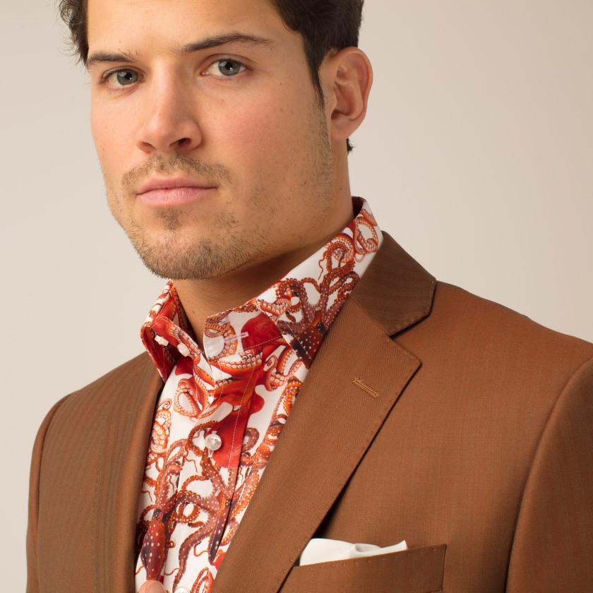 Copper Herringbone Suit